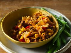 Enjoy this barbecued beef and pasta made with Progresso® broth and Green Giant® corn – a tasty dinner that's ready in 30 minutes.