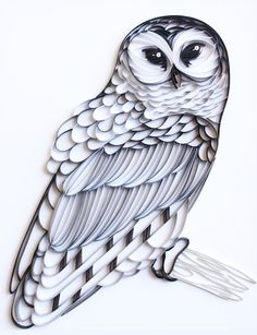The Barred Owl - Custom Paper Quilled Wall Art for Home Decor (one of a kind handcrafted piece made with love by an artist in California)