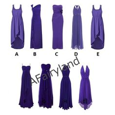 Purple series long bridesmaid dress/ladies' by AFairyland on Etsy, $79.00 (KEEP)