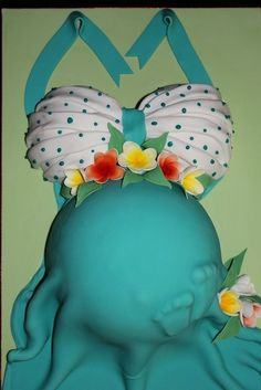 Pregnant belly cake by Marianeca