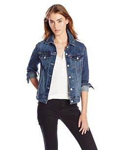 122 best halloween costumes images in 2018  levi\u0027s women\u0027s classic trucker jacket, belle blue , large classic button front denim jacket featuring button flap chest pockets and adjustable waist long