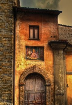 Tuscan Colors: Ancient doorway in Citta di Castello by Anguskirk