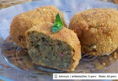 Lencsefasírt Baked Potato, Muffin, Potatoes, Vegetarian, Dishes, Baking, Breakfast, Ethnic Recipes, Food