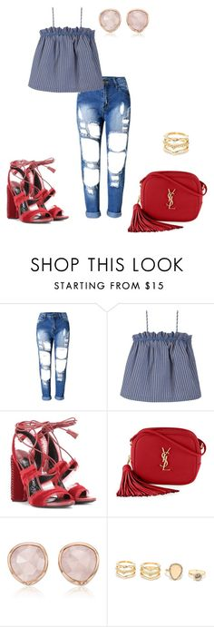 """Patchwork Patty"" by theycallmebeautiful on Polyvore featuring Luisa et la Luna, Tom Ford, Yves Saint Laurent, Monica Vinader and LULUS"