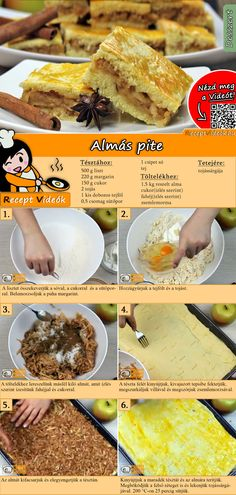 Apfelkuchen Rezept mit Video – Kuchenrezepte/ Weihnachten Rezepte A delicious sheet cake is this apple cake with plenty of filling. You can easily find the apple pie recipe video using the QR code :] Cake # Biscuits Apple Pie Recipe Video, Apple Pie Recipes, Sweet Recipes, Cookie Recipes, Hungarian Desserts, Hungarian Recipes, Yummy Cookies, Winter Food, No Cook Meals