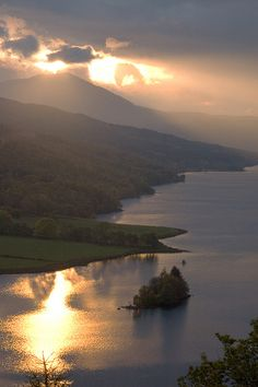 Loch Tummel Sunset at Queens View by little_miss_piccie, via Flickr.  Perth and Kinross, Scotland.
