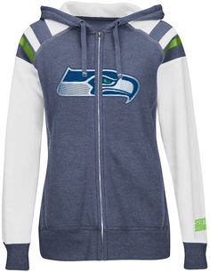 Majestic seattle seahawks deep post iv fleece hoodie - women's on shopstyle.com