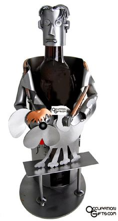 Veterinarian Wine Holder - Show your veterinarian some love with this high quality steel wine holder.