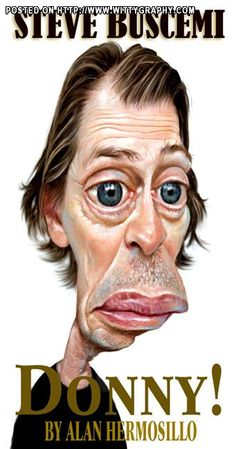 Steve Buscemi by Alan Hermosillo, caricature cartoon portrait drawing face stylized