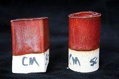 Bill van Gilder crocus martis red  - cone 6 NC Soda Feldspar (I've used F-4 or Minspar)     46.7 Talc    16.9 Bone Ash    15.0 Silica    11.4 EPK    4.0 Lithium Carbonate    4.0 Bentonite    2.0 Total    100 Crocus Martis     8.5 Red Iron Oxide     3.0