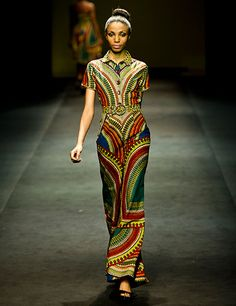 Kiki Clothing au Mercedes Fashion Week I love the African print African Inspired Fashion, African Print Fashion, Africa Fashion, Ethnic Fashion, Fashion Prints, Fashion Design, African Prints, Fashion Patterns, Ankara Fashion
