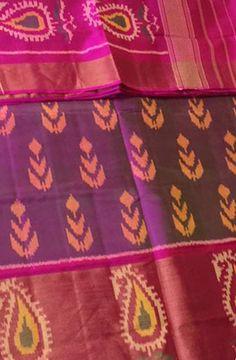 Shop online for Purple Handloom Patola Single Ikat Pure Silk Saree Phulkari Saree, Kasavu Saree, Bandhini Saree, Velvet Saree, Silk Saree Blouse Designs, Indian Outfits, Indian Clothes, Indian Fabric, Pochampally Sarees