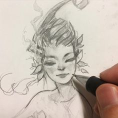 Sketches, by Ahmed Aldoori. Face Sketch, Drawing Sketches, Art Drawings, Sketching, Pretty Art, Cute Art, Ahmed Aldoori, Sketchbook Inspiration, How To Draw Hair