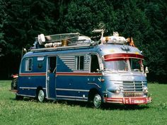 Mercedes Bus. Leave nothing home! Ha!