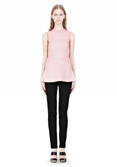 OPTICAL STRIPE PEPLUM TANK - Sleeveless Sweaters Women - Alexander Wang Online Store