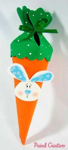 lembrancinha de pascoa cenoura EVA