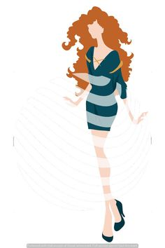 Clip Art Disney Princess Merida Inspired Fashion File by TemplateParadise