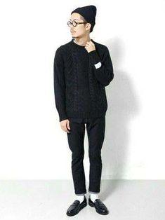 オールブラックで一味違ったメンズコーディネート Mens Fashion Wear, Korean Fashion Men, Japanese Fashion, Fashion Outfits, Men Formal, Sharp Dressed Man, Gentleman Style, Minimal Fashion, Daily Fashion