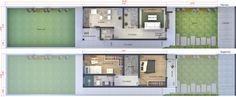 Um projeto planejado em um terreno com 5 metros de frente e 25 de profundidade, um sobrado que transborda conforto para seus moradores, pois possui uma planta bem livre e integrada em seu pavimento térreo, com uma separação entre a sala de TV e a cozinha apenas pela escada. Também possui um lavabo social próximo a área da lavanderia. Já no andar superior, os dormitórios é que são separados pela escada. Próximo a mesma, se encontra o banheiro íntimo. O dormitório de casal tem saída para a…