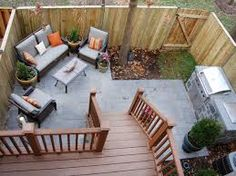 Image result for small back yards with outdoor kitchen