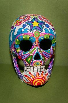 DIA De Los Muertos Skulls   Dia De Los Muertos Skull by ~maskedrabbitcrafts on deviantART