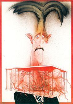 George Orwell's Animal Farm Illustrated by Ralph Steadman | Brain Pickings Portrait of George Orwell by Ralph Steadman