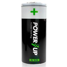 Termo para mantener a temperatura ideal tu bebida favorita, tiene un diseño en forma de batería alcalina.