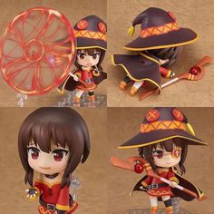 Nendoroid of the wizard with delusions of grandeur and an affinity to the Explosion spell - Megumin! http://ift.tt/2jVJZu3 She comes with three face plates including a smiling face a serious face for spell casting as well as a cute bashful expression. Pre-order now Animegami Store