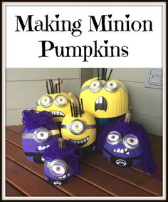 This is a guide about making minion pumpkins. These pill shaped characters are easy to make from a pumpkin.