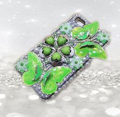 Butterfly Phone Case - Green Phone Case - Pearl Iphone 4 Case - Gifts For Her - Womens Gifts - Bridesmaid Gifts - 3D Iphone Case on Etsy, $29.00