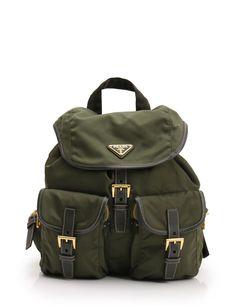 6424f35d9112 PRADA VELA COLOUR backpack nylon Khaki - Prada Handbag #prada #handbag -  $580.00 End