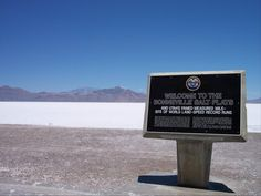 "Name:The Bonneville Salt Flats ""famed measured mile-site of world land-speed record runs""   Location: Salt Lake city, Utah, US   Website: http://www.utah.com/playgrounds/bonneville_salt.htm"