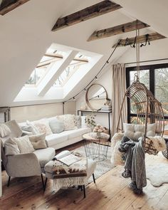 Home Interior Design — Beautiful cozy, sunny, living room Cozy Living Rooms, Home And Living, Living Room Decor, Living Spaces, Nordic Living, Scandinavian Living, Salons Cosy, Home Improvement Loans, My New Room