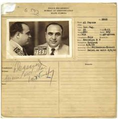 The king of illegal gambling: Al Capone