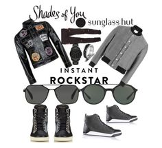 """Shades of You: Sunglass Hut Contest Entry"" by mdfletch on Polyvore featuring Prada, Giorgio Armani, Yves Saint Laurent, Diesel, Topman, Maison Margiela, Stampd, Michael Kors and shadesofyou"