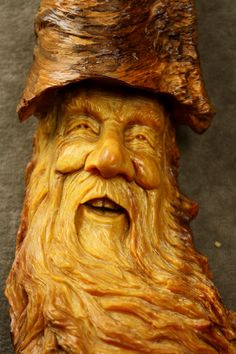 Wood Spirit Carving Ooak Wooden Christmas by TreeWizWoodCarvings, $115.00
