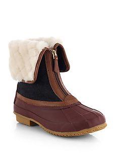 Tory Burch Abbott Shearling Duck Boots