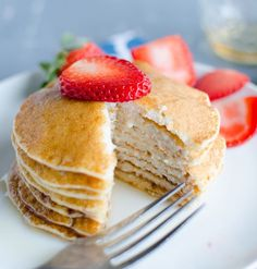 These 21 Day Fix lemon ricotta pancakes are good for you, packed full of protein, and sure to be a favorite breakfast for everyone in the house!