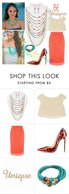 """""""Be Bold"""" by shoppe23 ❤ liked on Polyvore featuring Oscar de la Renta, Oasis, statementnecklaces, Shoppe23 and laddernecklace"""