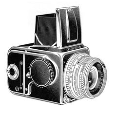 Hasselblad Ad Line Art - 1961 by Casual Camera Collector, via Flickr
