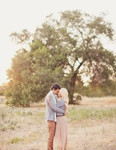 casual outdoor engagement photos
