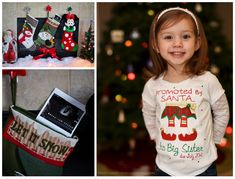Christmas Pregnancy Announcement, Stocking Pregnancy Announcement, Big  Sister Pregnancy Announcement, Big Sister Announcement