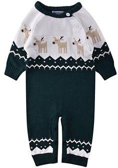 ZOEREA - Bebé niños. Pelele blanco y azul con ciervos.  #modainfantil #modanavidad #ropainfantil #ropanavidad