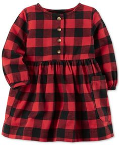 Carter's Checkered-Plaid Cotton Dress, Baby Girls (0-24 months)