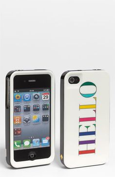 kate spade 'hello' iPhone 4 & 4S case. I have several cases and this is one of my favs!