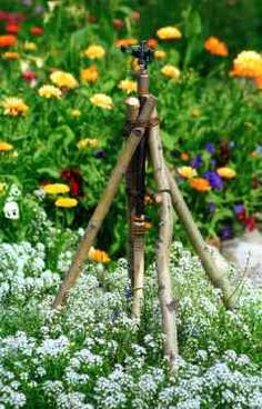 DIY ~Budget Tower Sprinkler - a must for any garden ... WATER!