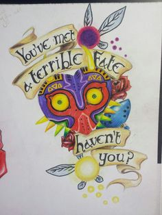abstract majora's mask tattoo shoulder - Google Search