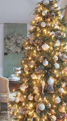 Balsam Hill Colorado Mountain Spruce  FRENCH COUNTRY COTTAGE: O Christmas tree