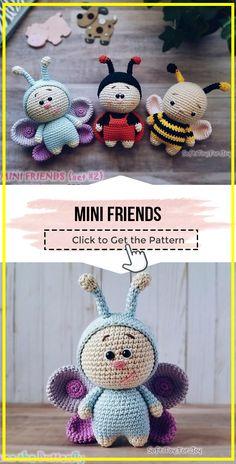 Crochet toys 610800768202339186 - crochet Mini Friends easy pattern – easy crochet amigurumi pattern for beginners Source by monique_sene Easy Knitting Patterns, Crochet Patterns Amigurumi, Crochet Dolls, Simple Knitting, Cowl Patterns, Knitting Tutorials, Crochet Simple, Free Crochet, Baby Mobile