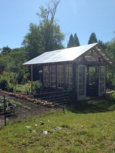 greenhouses from old windows | Greenhouse from Reclaimed Timber and Vintage Multipane Wood Windows ...